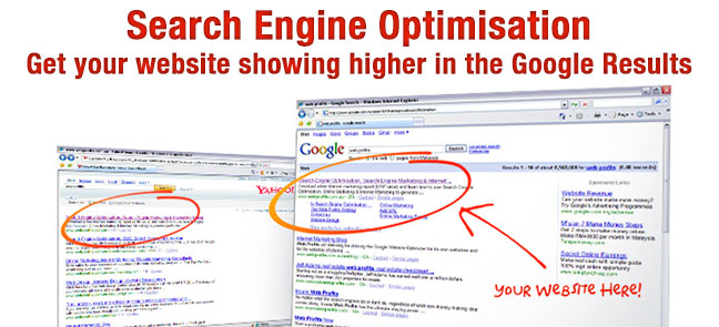 Get your website showing higher